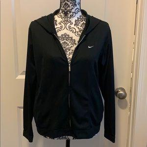 Ladies Nike Dri-Fit hooded sweatshirt with zipper